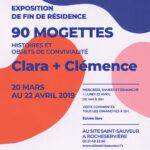 Flyer : Clara + Clémence Site Saint-Sauveur Terres de Montaigu