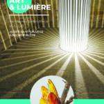 Flyer Exposition artistique Art et Lumière Site Saint-Sauveur Terres de Montaigu