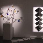 Photo : exposition Art et Lumière des oeuvres d'Hélène Fortin Rince et ALL 2 Site Saint-Sauveur Terres de Montaigu