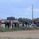Photo : performance pour l'anniversaire de la chute de la météorite CL Site Saint-Sauveur Terre de Montaigu