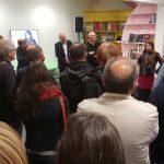 Photo : vernissage en présence d'Aurore Valade au Site Saint-Sauveur Terres de Montaigu