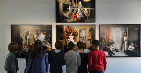 Photo : visite scolaire Aurore Site Saint-Sauveur Terres de Montaigu