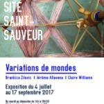 Flyer : variations de mondes au Site Saint-Sauveur Terres de Montaigu