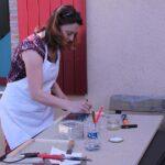 Photo : rencontre et atelier avec Hélène Fortin Rincé au Site Saint-Sauveur - Terres de Montaigu