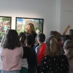 Photo : visite scolaire au Site Saint-Sauveur - Terres de Montaigu